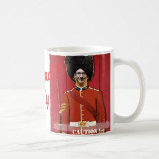 Taza De Café Guardia real de Londres Gran Bretaña - con SU foto