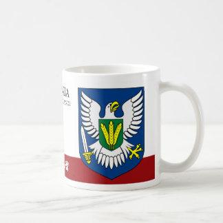 Taza De Café Guerrero Eagle con la espada de Viljandi Estonia