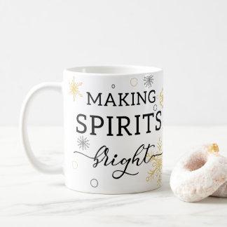 Taza De Café Haciendo bebidas espirituosas día de fiesta