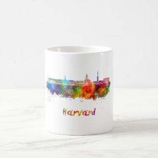 Taza De Café Harvard skyline in watercolor