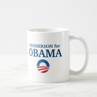Taza De Café HENDERSON para el personalizado de Obama su ciudad