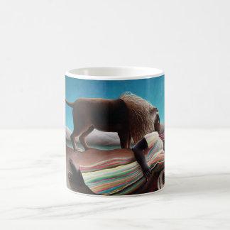 Taza De Café Henri Rousseau el vintage gitano el dormir