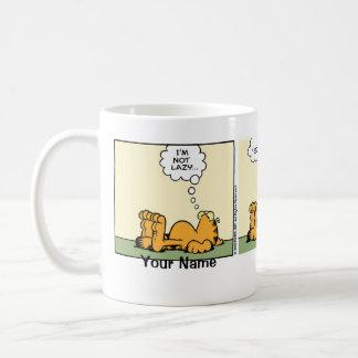 """Taza De Café Historieta """"perezosa"""" con clase de Garfield"""