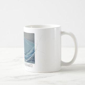 Taza De Café Hokusai resuelve Fibonacci, coeficiente de oro #2