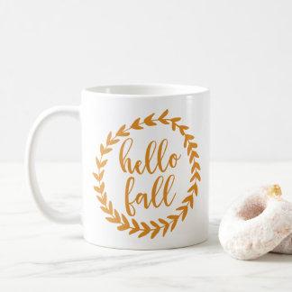 Taza De Café Hola caída el |