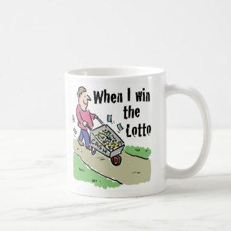 Taza De Café Hombre del diseño de la lotería que gana con la
