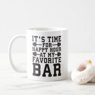 Taza De Café Hora feliz en mi barra preferida - gimnasio