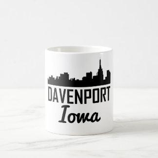 Taza De Café Horizonte de Davenport Iowa