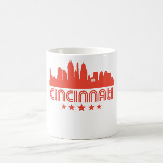 Taza De Café Horizonte retro de Cincinnati