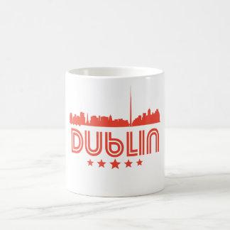Taza De Café Horizonte retro de Dublín
