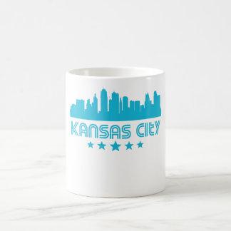 Taza De Café Horizonte retro de Kansas City