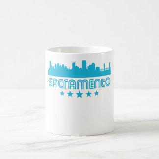 Taza De Café Horizonte retro de Sacramento