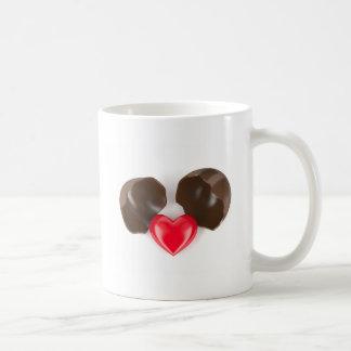 Taza De Café Huevo y corazón de chocolate