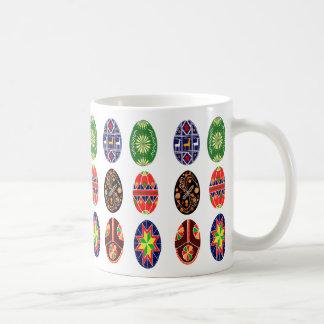 Taza De Café Huevos de Pascua del ucraniano de Pysanky