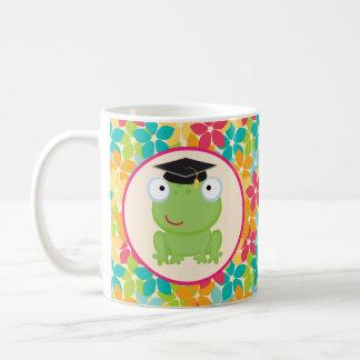 Taza De Café Idea del regalo del graduado de la rana de la