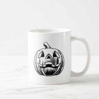 Taza De Café Ilustracion de la calabaza de Halloween
