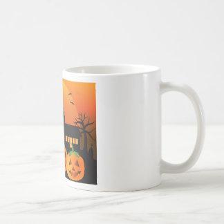 Taza De Café Ilustracion de las calabazas de la linterna de