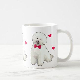 Taza de café ilustrada Frise de Bichon