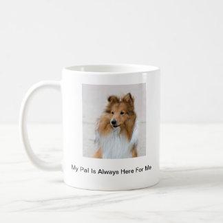 Taza De Café Imágenes del perro pastor de Shetland