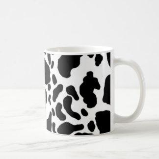 Taza De Café Impresión blanco y negro de la vaca