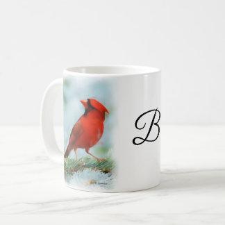 Taza De Café Impresión cardinal roja personalizada