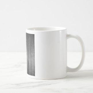 Taza De Café Impresión de madera blanco y negro