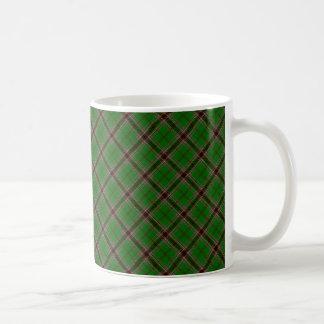 Taza De Café Impresión diseñada irlandés del tartán del clan de