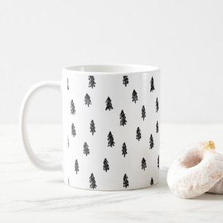 Taza De Café Impresión nevosa minúscula del bosque