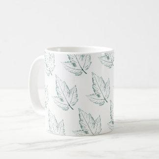 Taza De Café Impresión poca, hoja de la hoja de la naturaleza