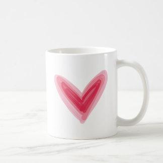Taza De Café Impresión rosada bonita del corazón, amor hermoso