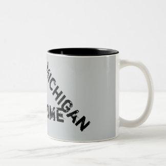 Taza de café impresionante de la cita de Michigan
