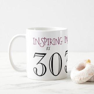 Taza De Café Inspiración en el trigésimo regalo de cumpleaños