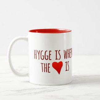 Taza de café inspirada de la cita de Hygge
