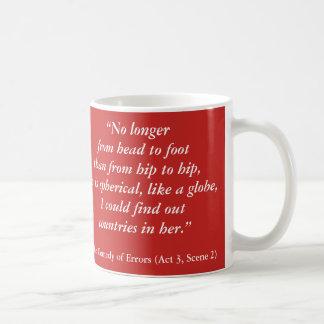 """Taza De Café Insultos de Shakespeare: """"No más de. """""""