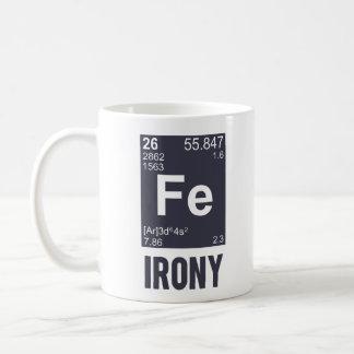 Taza De Café Ironía irónica del FE del elemento químico