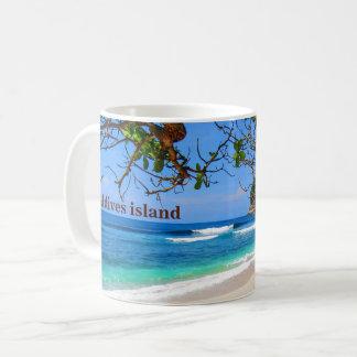 Taza De Café Isla de Maldivas del almacenador