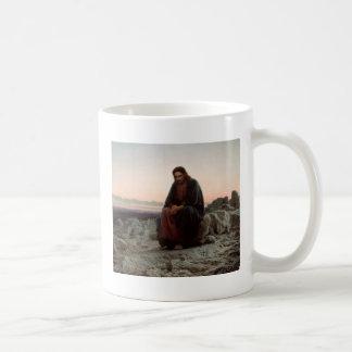 Taza De Café Ivan Kramskoy- Cristo en el desierto - bella arte