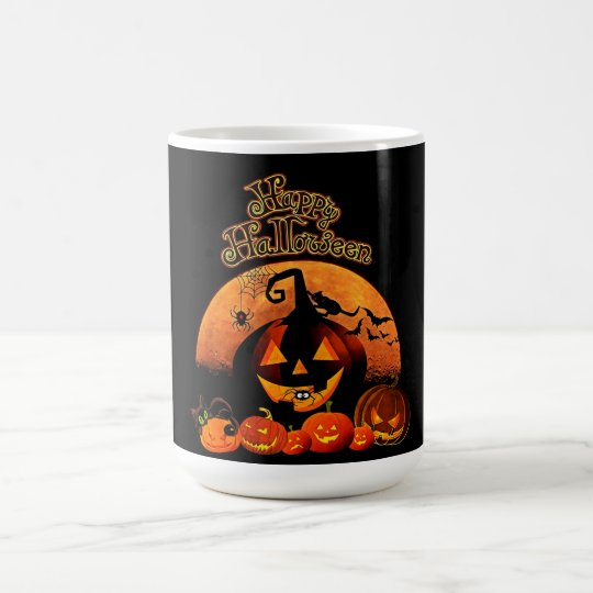Taza De Café Jack-o-linterna del feliz Halloween