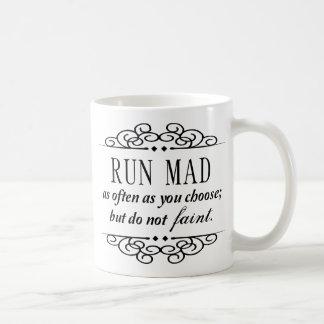 Taza De Café Jane Austen: El funcionamiento enojado/no se