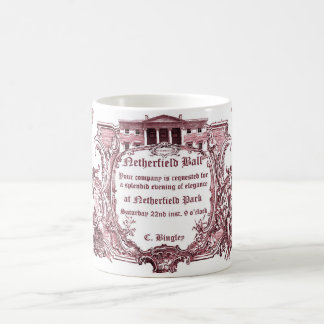 Taza De Café Jane Austen: La bola de Netherfield invita a la