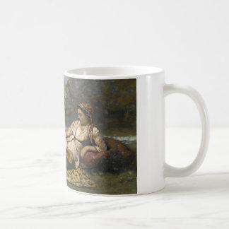 Taza De Café Jean-Baptiste-Camilo Corot - mujeres jovenes de