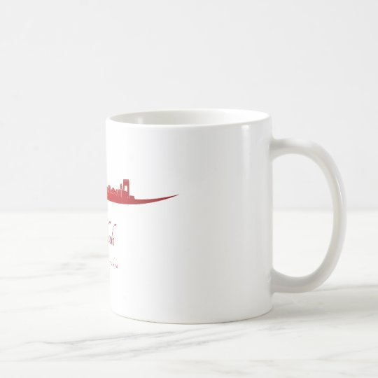 Taza De Café Jeddah skyline in red