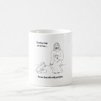 Taza De Café Jesús ama perros