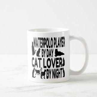 Taza De Café Jugador de Waterpolo del amante del gato