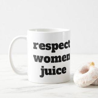 Taza De Café Jugo de las mujeres del respecto