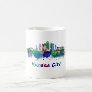 Taza De Café Kansas City V2  skyline in watercolor