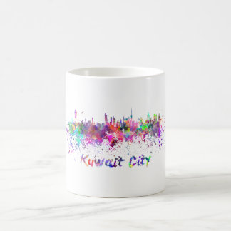 Taza De Café Kuwait City skyline in watercolor