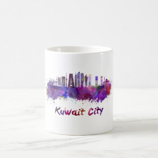 Taza De Café Kuwait City V2 skyline in watercolor