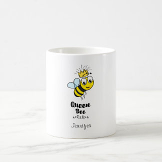 Taza De Café La abeja reina linda manosea la abeja con la