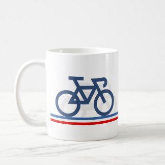 Taza De Café La bici con la bandera francesa inspiró las líneas